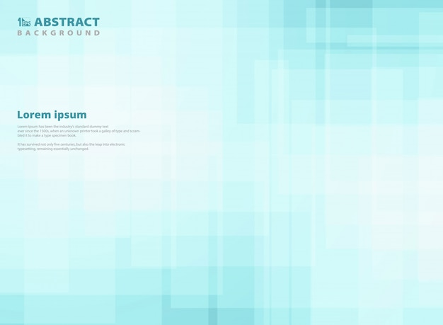 Abstract gradient blue square pattern background.