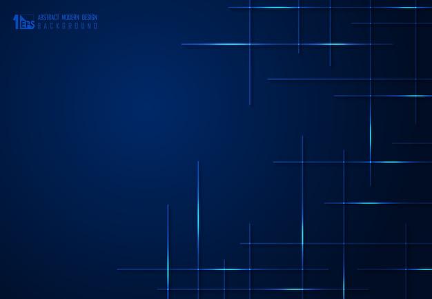 抽象的なグラデーションの青い技術の背景