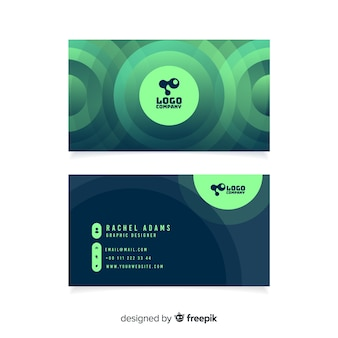 Abstract gradient business card template