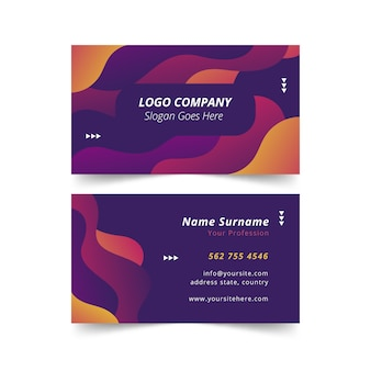 Abstract gradient business card