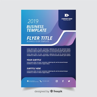 Abstract gradient business flyer template