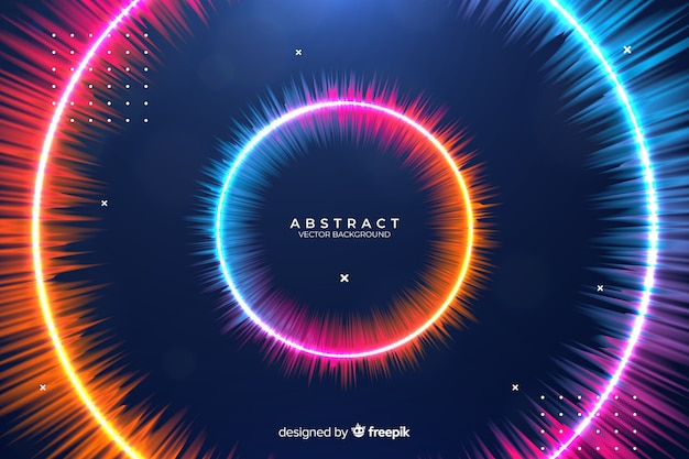 Abstract gradient circles background
