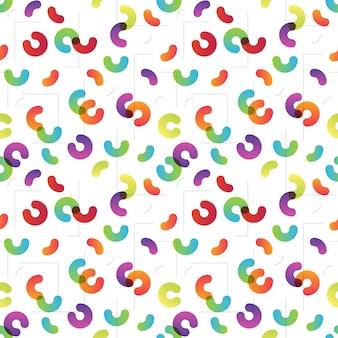 Abstract gradient circles pattern Premium Vector