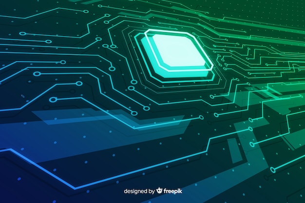 Abstract gradient circuit board background