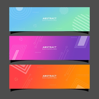 Abstract gradient collection layout