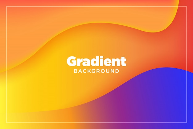 Abstract gradient colorful 3d paper liquid art illustration
