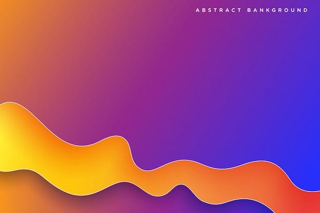 Abstract gradient colorful 3d paper liquid art illustration