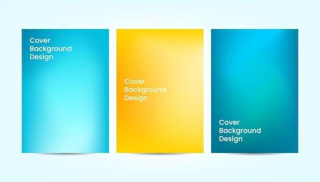 Абстрактный градиент красочный дизайн фона обложки.