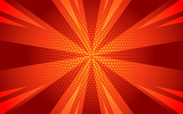 Abstract gradient comic background in cartoon style