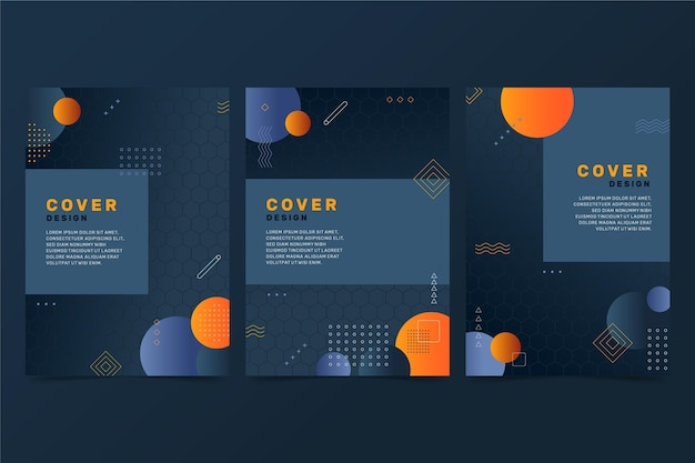 Abstract gradient cover design