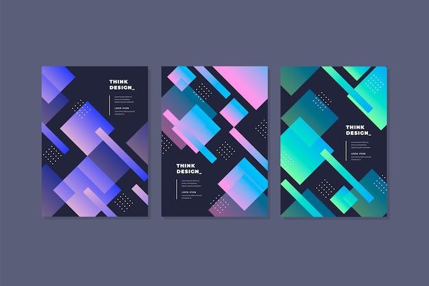 抽象的なグラデーションカバーコレクション