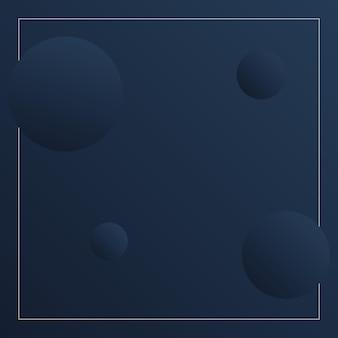 거품 우아한 배경 벡터와 추상 그라데이션 진한 파란색 배경