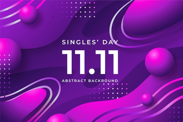 Abstract gradient design singles' day