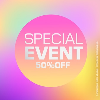 Abstract gradient discount banner