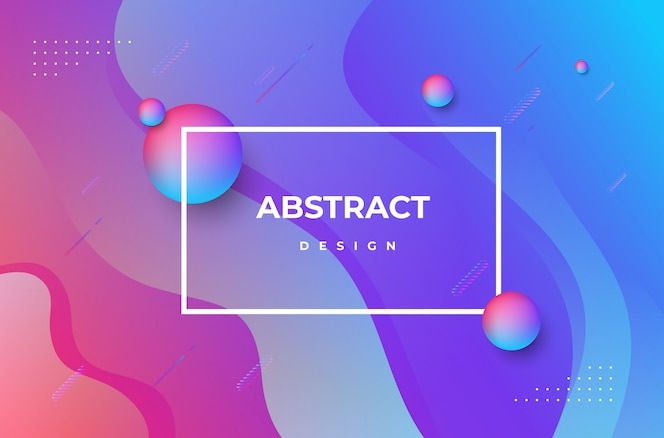 Abstract gradient dynamic shapes background