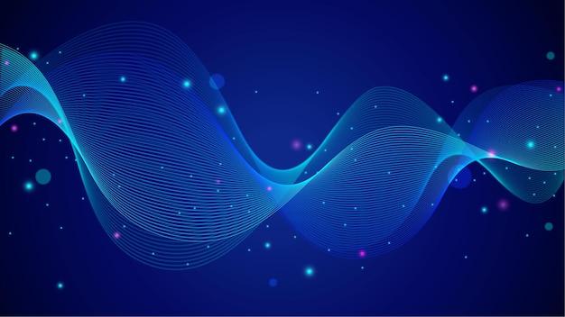 Абстрактный градиентный эквалайзер волнистые плавающие линии фона