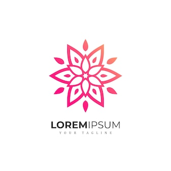 Abstract gradient flower logo