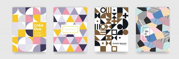 ポスターカバーデザインの抽象的なグラデーション流れる幾何学模様の背景テクスチャ