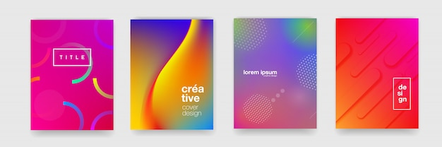 Abstract gradient flowing geometric pattern background texture for poster cover design