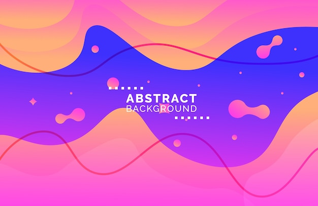 Abstract gradient fluid shape background