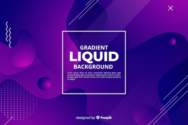 Abstract gradient fluid shapes background