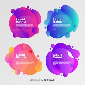Abstract gradient fluid shapes banner