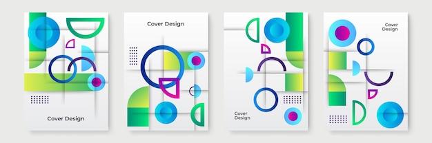 추상 그라데이션 기하학적 표지 디자인, 트렌디한 브로셔 템플릿, 다채로운 미래 지향적인 포스터. 벡터 일러스트 레이 션