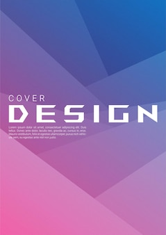 Abstract gradient geometric shape background with grain texture for web cover and wallpaper. folding paper vector design