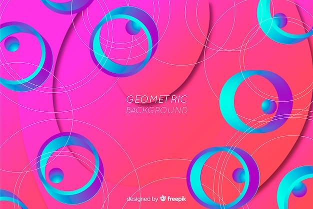 Абстрактный градиент геометрических фигур фон