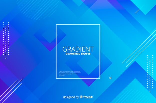 Abstract gradient geometric shapes backround