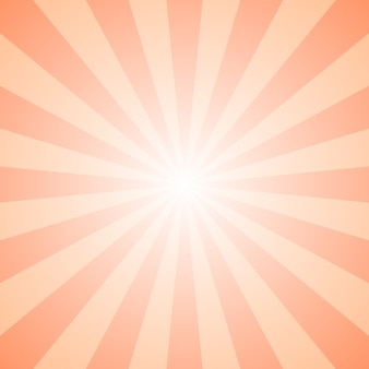 Abstract gradient geometrical ray burst background - retro vector graphic design with radial lines