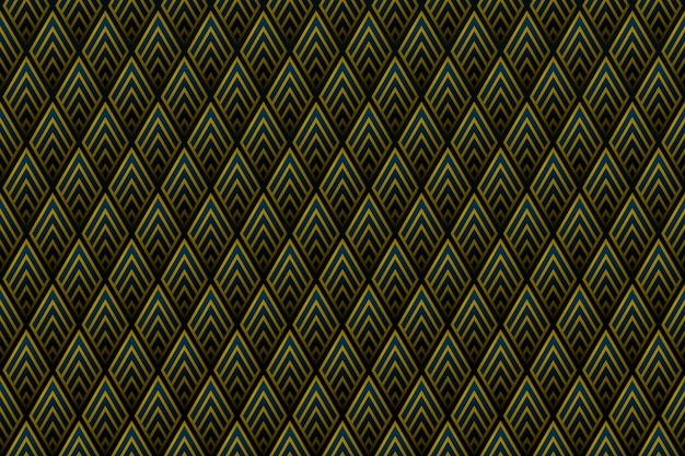 Abstract gradient gold square pattern of royal design background.