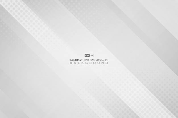 Abstract gradient gray with round halftone decoration