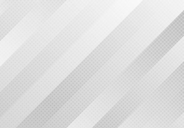 도트 하프 톤 장식 배경으로 추상 그라데이션 회색 스트라이프 라인 패턴 작품. 프리미엄 벡터