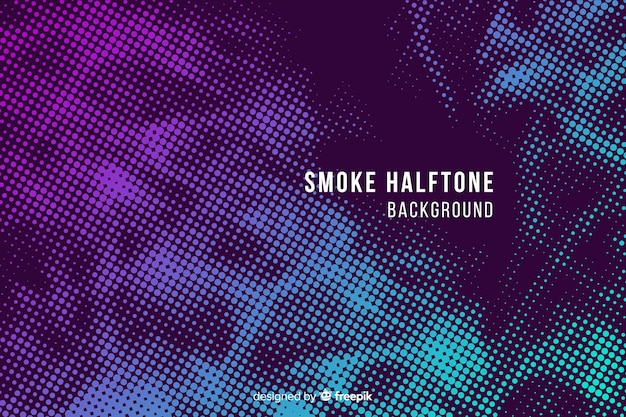Abstract gradient halftone smoke background