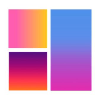 바이올렛, 핑크, 블루의 추상 그라데이션 영역입니다.