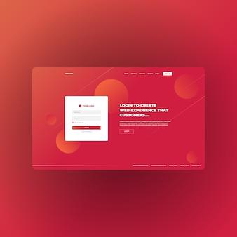 Целевая страница с абстрактным градиентом для многоцелевого бизнеса и цифрового маркетинга