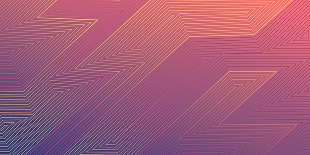 Abstract gradient line art background