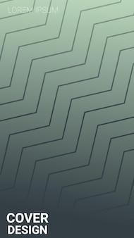 Abstract gradient lines gray, dark background