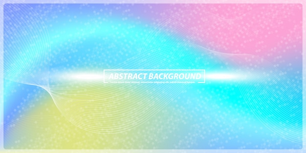 Abstract gradient and lines rainbow banner background