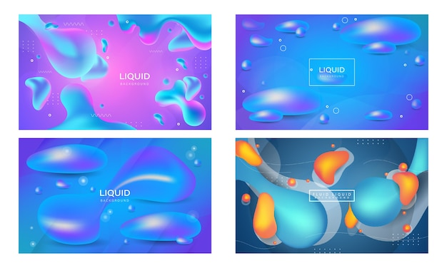 Abstract gradient liquid background