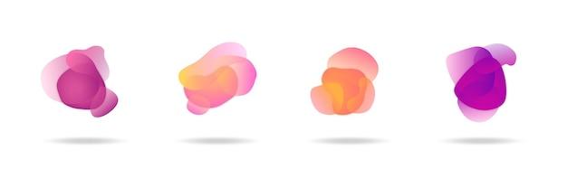 Abstract gradient liquid banner set collection, trendy modern background, gradient infographic element vector