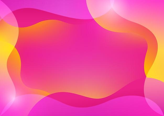 밝은 노란색과 분홍색 색상의 추상 그라디언트 메쉬 배경, eps10의 벡터 일러스트 레이 션