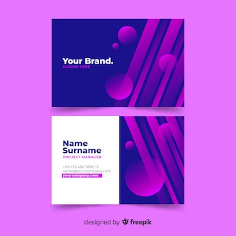 Abstract gradient models business card template