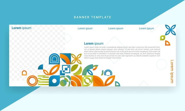 Abstract gradient mosaic banner design templates