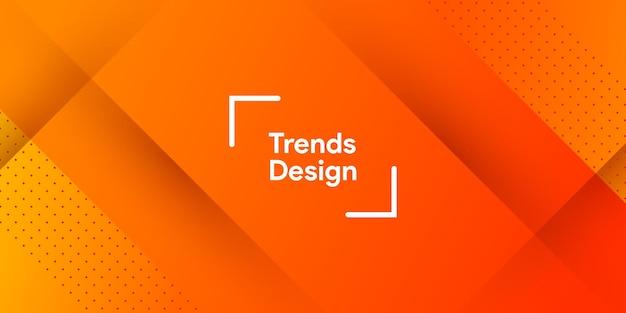 Абстрактный градиент оранжевого цвета в современном минимальном фоне