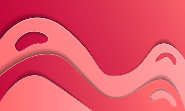 Abstract gradient paper cut background