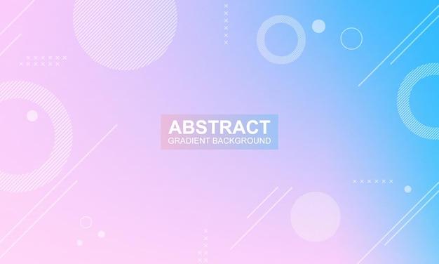 Абстрактный градиент розовый и синий геометрический баннер фон векторные иллюстрации
