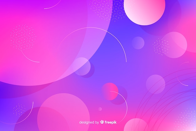 Abstract gradient pink and violet dust circles background