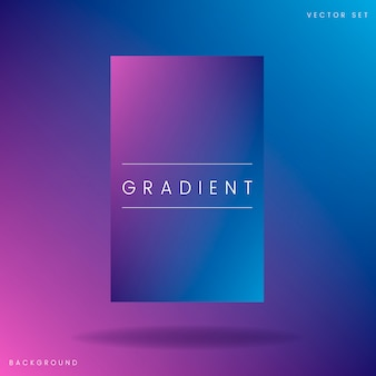 Abstract gradient poster template